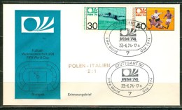 GERMANY Cover With Set For The Match Poland - Italy 2 : 1 On 23-6-74 - Coppa Del Mondo
