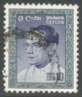 Ceylon. 1964 SWRD Bandaranaike. 10c Used. SG 481 - Sri Lanka (Ceylon) (1948-...)