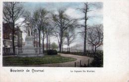 Tournai : Souvenir- Le Square Du Mortier - Carte Couleur (1900) - Doornik