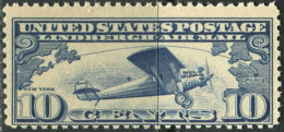 USA 1927. Michel #306-A MNH/Luxe. Airplanes (Ts21) - Air Mail