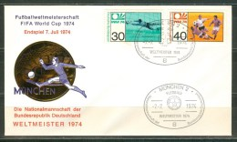 GERMANY Cover With Set With Cancel Gemany World Champion On 7-7-74 - Coppa Del Mondo