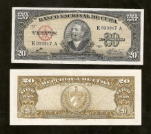 !!! BILLET 20 PESOS 1960 SIGNE CHE GUEVARA (UNC) !!! - Kuba
