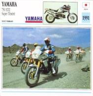 Fiche Technique Moto (Tout Terrain - Enduro) -  Yamaha 750XTZ  Super Ténéré  -  1991 -  Carte De Collection - Picture Cards