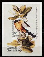 Grenadines-Grenade ** Bloc N° 90 - JJ Audubon, Ornithologue. Oiseaux - Grenada (1974-...)