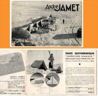 Livret Catalogue Publicitaire: André Jamet, Expédition Paul-Emile Victor Victor (camping Retro, Tente, Matelas, Duvets) - Tourisme