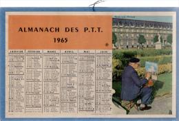 ALMANACH DES PT T 1965 Demi Format Scénes Artiste Peintre / Paysage De Montagne - Big : 1961-70