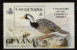 Guyane ** Bloc N° 86A  - Découverte De L'Amérique Par C. Colomb. Oiseaux - Guyana (1966-...)