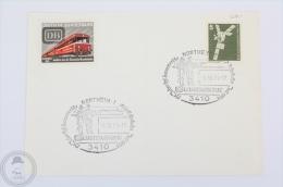 Train Topic Postcard - Deutsche Bundesbahn DB Stamp - Postmarked 1979, Northeim Leistungsschau 3410 - Trains