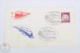 Germany Train/ Railway Topic Cover  - Braunschweig DB Leistungsschau Postmarks 1980 - Trains