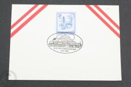Austria Train/ Railway Topic Postmarks - 1982 - 2070 Retz, Niederösterreich - Trains