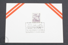 Austria Train/ Railway Topic Postmarks - 1976 - 50 Jahre Personalvertretung - Der Raab -Ödenburger - Eisenbahn - Trains