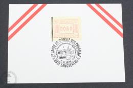 Austria Train/ Railway Topic Postmarks - 1986 - 20 Jahre Im Dienste Der Philatelie - 3921 Langschlag - Trains