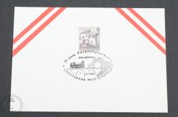 Austria Train/ Railway Topic Postmarks - 1986 - 75 Jahre Feistritztalbahn - Landesbahn Weiz- Birkfeld - Trains