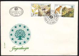 "Yugoslavia 1981, FDC  Cover ""European Nature Conservation"" W./ Special Postmark ""Belgrade"", Ref.bbzg - FDC"