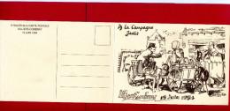 ILLIERS COMBRAY 1994 SALON DE LA CARTE POSTALE A LA CAMPAGNE JADIS FACTEUR DANS VOITURE A CHIEN DESSIN DE BOULAY - Poste & Facteurs