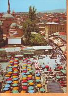 Bosnia 1967 Y Traveled Postcard Sarajevo Turkish Market Place - Bosnie-Herzegovine
