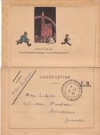 """GUERRE 14 / 18 - Carte Lettre FM Avec Dessin D´après HENSI - Cad """" Trésor Et Poste * 211 * - Marcophilie (Lettres)"""