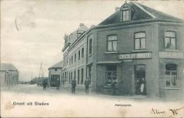 Groet Uit EISDEN : Stationsplein - TRES RARE CPA - Timbre Décollé - Maasmechelen