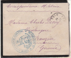"""GUERRE 14 / 18 - DOMPIERRE ( Oise ) - Lettre FM """" Centre Hospitalier De Dompierre* Le Vaguemestre *. - Marcophilie (Lettres)"""