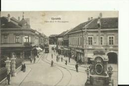 NS34  ---  UJVIDEK    ---   DONAU GASSE   --  TRAM, TRAMWAY, STRASSENBAHN  --  WRITEN 1919 - Serbia