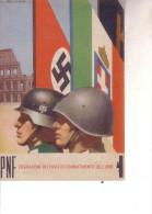 2a Guerra-- FASCISMO -P-N-F-  FED. DEI FASCI DI COMBATTIMENTO DELL´URBE-- Viaggiata 5 5 43 - Guerra 1939-45