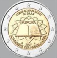 Nederland 2007     2 Euro Commemo    Verdrag Van Rome    UNC Uit De Rol  UNC Du Rouleaux  !! - Paesi Bassi