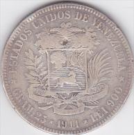 VENEZUELA. BOLIVAR 1911 , 25 Grams. ARGENT - Venezuela