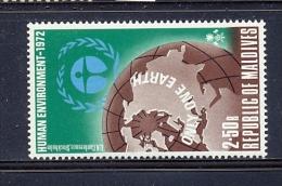 Maldives 1972, Human Environment, Minr 429 MNH. Cv 3,60 Euro - Maldive (1965-...)
