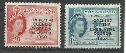 SOMALILAND..1957..Michel # 132-133...MLH. - Somaliland (Protectorate ...-1959)