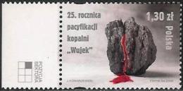 """Pologne / Poland (2006) - Pacification Mine De Charbon De """"Wujek"""" à Katowice / Coal Mine. Sang / Blood. - Géologie"""