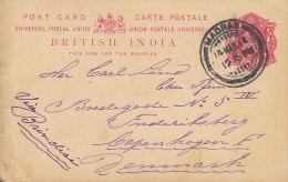 British India UPU Postal Stationery Ganzsache Entier Edward VII. MADRAS 1914 Via BRINDISI To Denmark (2 Scans) - India (...-1947)