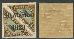 Estland Estonia 1923 Michel 43 Gum Variety D: 1 * + Error E: 3 RRR - Estland