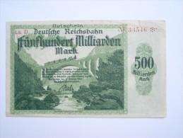 Notgeld Reichsbahn 500  Milliarden Mark  Karlsruhe - 500 Milliarden Mark