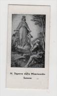 ^ SANTINO HOLY CARD CANIVET MADONNA SIGNORA DELLA MISERICORDIA SAVONA PREGHIERA 195 - Devotion Images