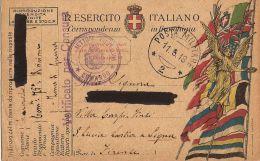 FRANCHIGIA POSTA MILITARE 2 1918 MAZZO VALTELLINA X LASTRA SIGNA - Military Mail (PM)