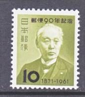 Japan  727   * - Unused Stamps
