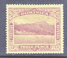 DOMINICA  40   *    Wmk 3  Multi  CA - Dominica (...-1978)