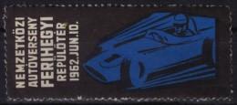 Racing Car - Oldsmobile / Grand Prix HUNGARY Ferihegy AIRPORT 1962 - MH LABEL / CINDERELLA - Cars