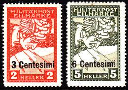 Italy 1918 Austrian Occupation Sc NE1-2 Mint Hinged - 8. WW I Occupation