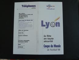 Programme Officiel Coupe Du Monde Footbal 1998 Lyon - Apparel, Souvenirs & Other