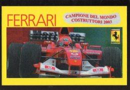 [DC0612] CARTOLINEA - FERRARI - CAMPIONE DEL MONDO COSTRUTTORI 2003 - Grand Prix / F1
