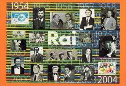 [DC0626] CARTOLINEA - CINQUANT'ANNI DI TELEVISIONE - 1954/2004 - RAI - TORINO - Non Classificati