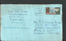 Nederland Netherlands Aerogramme 1990 Luchtpostblad Aerogramme Slogan Cancel Posted From Netherland To Pakistan - Period 1980-... (Beatrix)