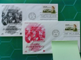 1981 Joint USA / Ireland James Hoban Death 150th Anniv. Set Of Two Artcraft FDCs, One For Each Value (addressed) - Emissions Communes