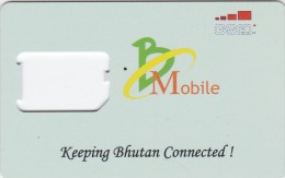 Bhutan, BM-GSM-0001, GSM Frame Without Chip, 2 Scans. - Bhutan