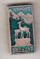 USSR Russia old pin badge  - cities - Kuldur