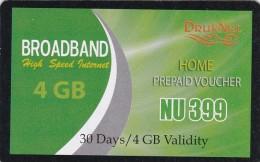 Bhutan, 4 GB, Broadband Voucher, 2 Scans. - Bhoutan
