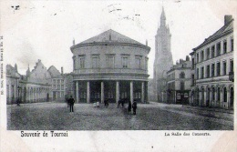 Tournai : Souvenir - La Salle Des Concerts - Carte Couleur (1900) - Doornik