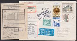 DDR U9 135 Pf Handelshof Frühjahrsmesse 1989 Waldkirchen R-Bf Lp Nach Aruba Antillen Und Retour - [6] Democratic Republic