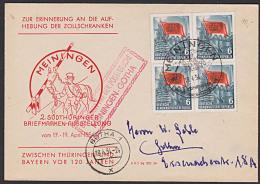 Meiningen Sonderbeförderung Mit Postkutsche Meiningen - Gotha 1954 Aufhebung Der Zollschranken Eisenhüttenkombinat Ost - DDR